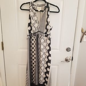 e5a0a1a5e5442 Anthropologie Dresses - Anthropologie Black Cream Maeve & Stripes/Dot Maxi